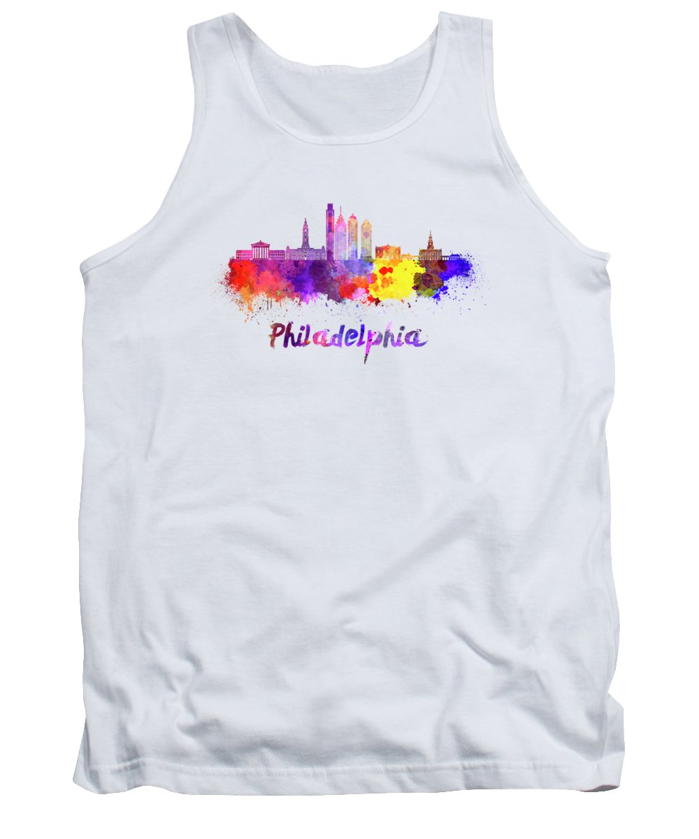 Philadelphia Skyline Tank Tops