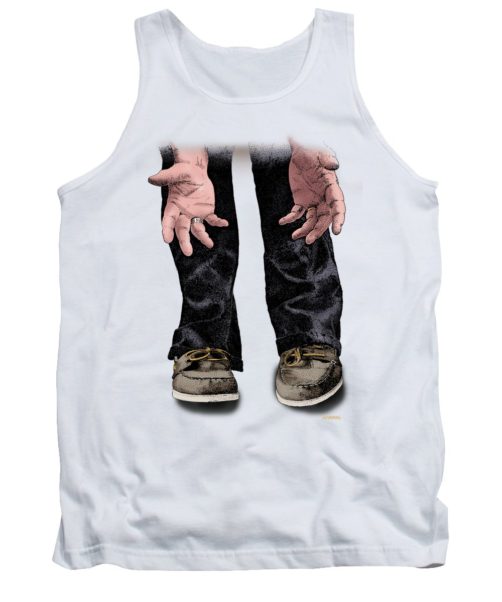 T-shirt Tank Top featuring the drawing Pick Me Up Daddy by Joseph Juvenal