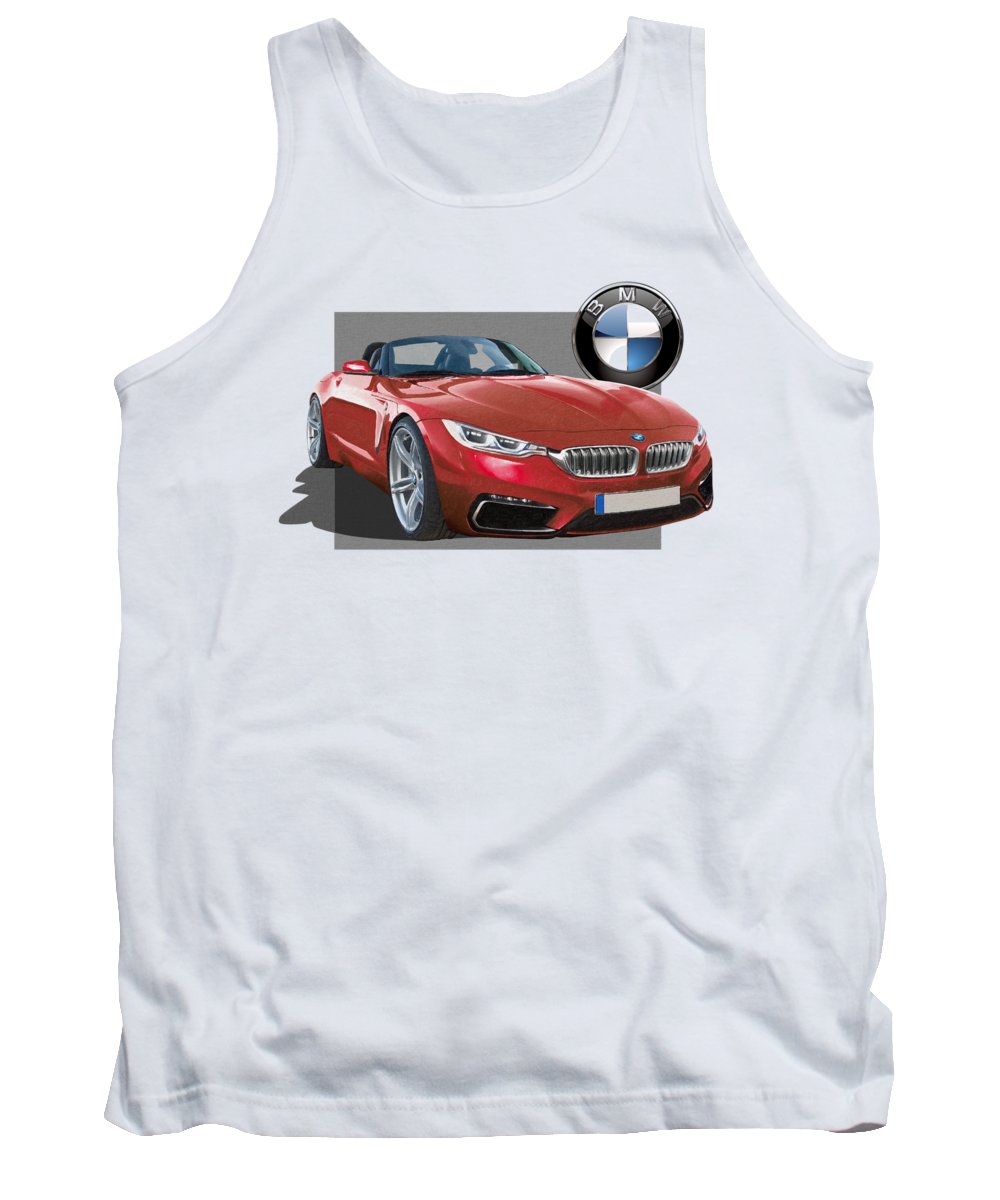 �bmw� Collection By Serge Averbukh Tank Top featuring the photograph Red 2018 B M W Z 5 With 3 D Badge by Serge Averbukh