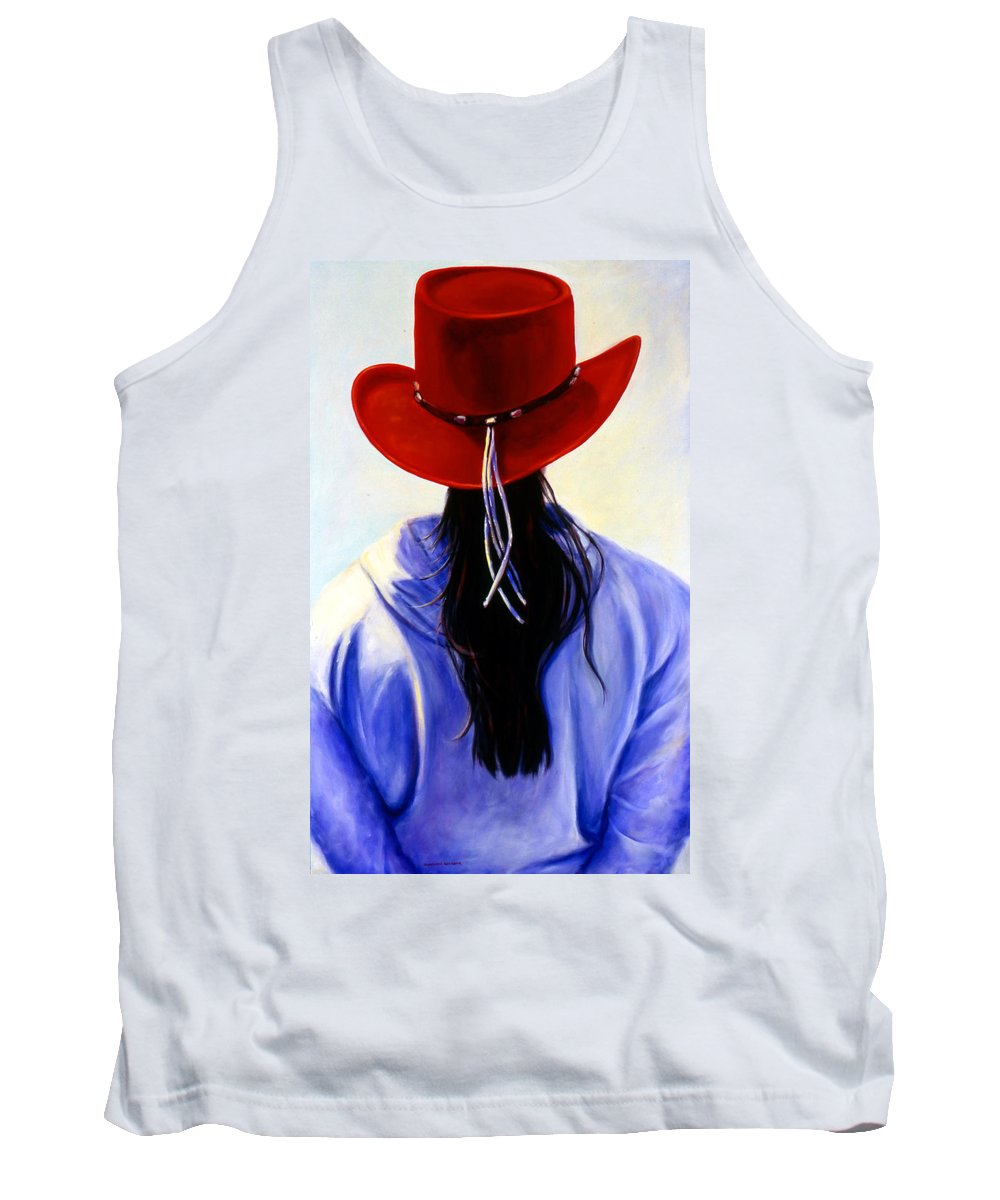 Red Tank Top featuring the painting Red Ahead by Shannon Grissom
