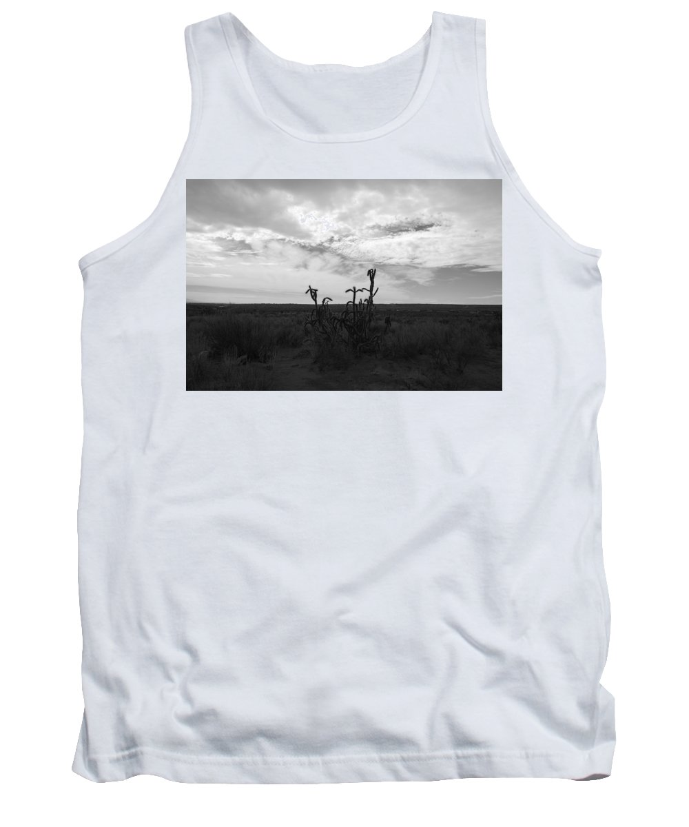 Black And White Tank Top featuring the photograph Rio Rancho by Rob Hans
