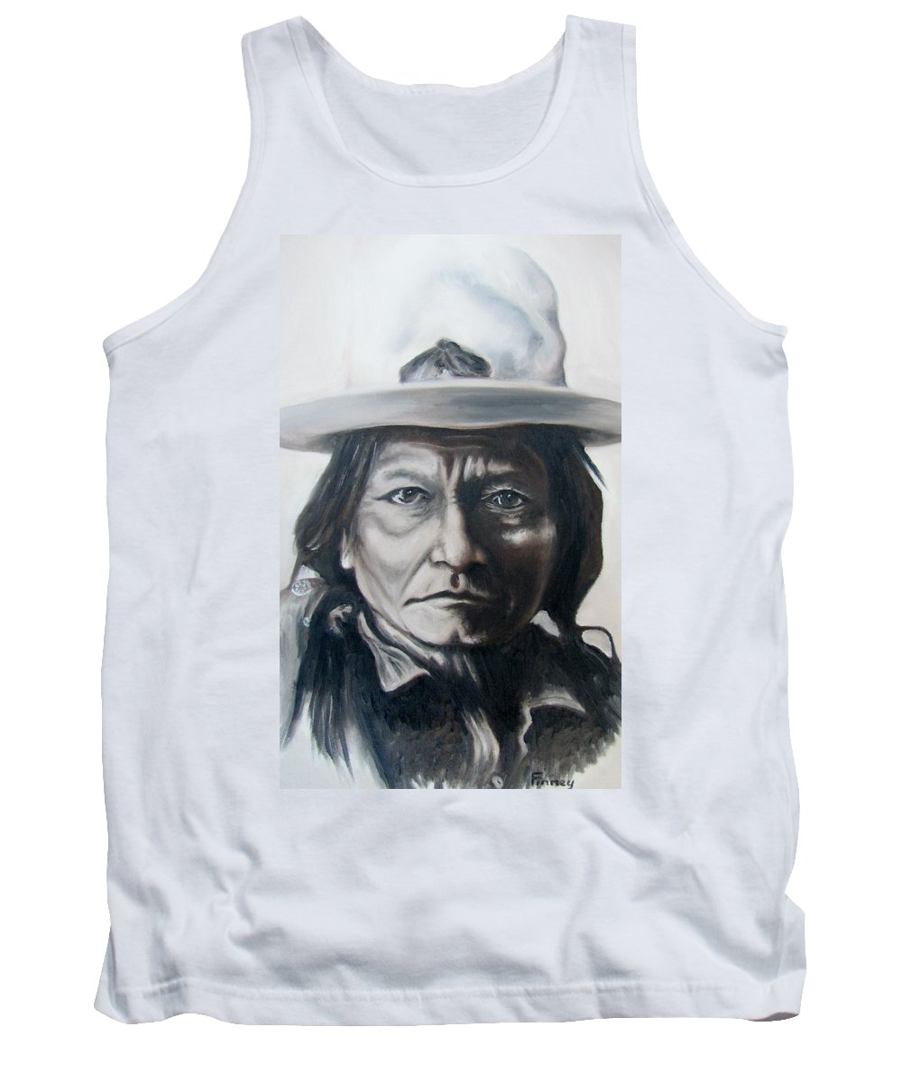 Sitting Bull Tank Top featuring the painting Sitting Bull by Michael TMAD Finney