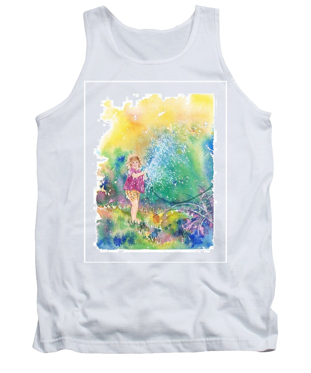 Children Tank Top featuring the painting Summer Fun by Gale Cochran-Smith