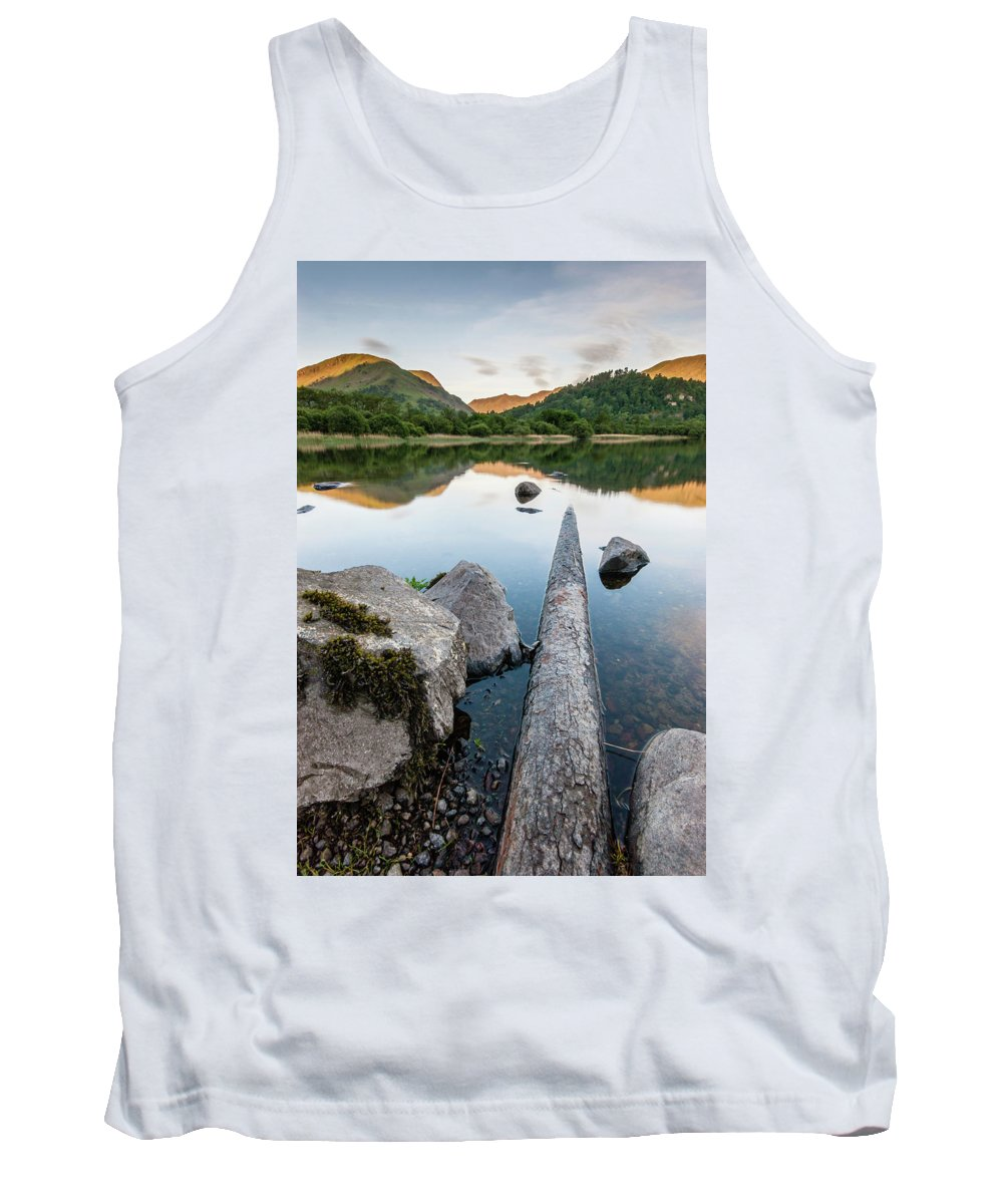 Landscape Tank Top featuring the photograph Sunrise At Ullswater, Lake District, North West England 1 by Anthony Lawlor