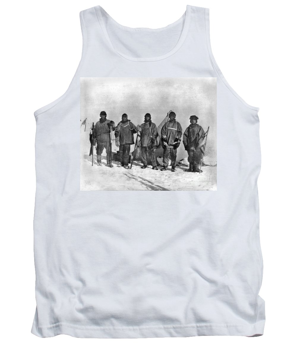 1912 Tank Top featuring the painting Terra Nova Expedition by Granger