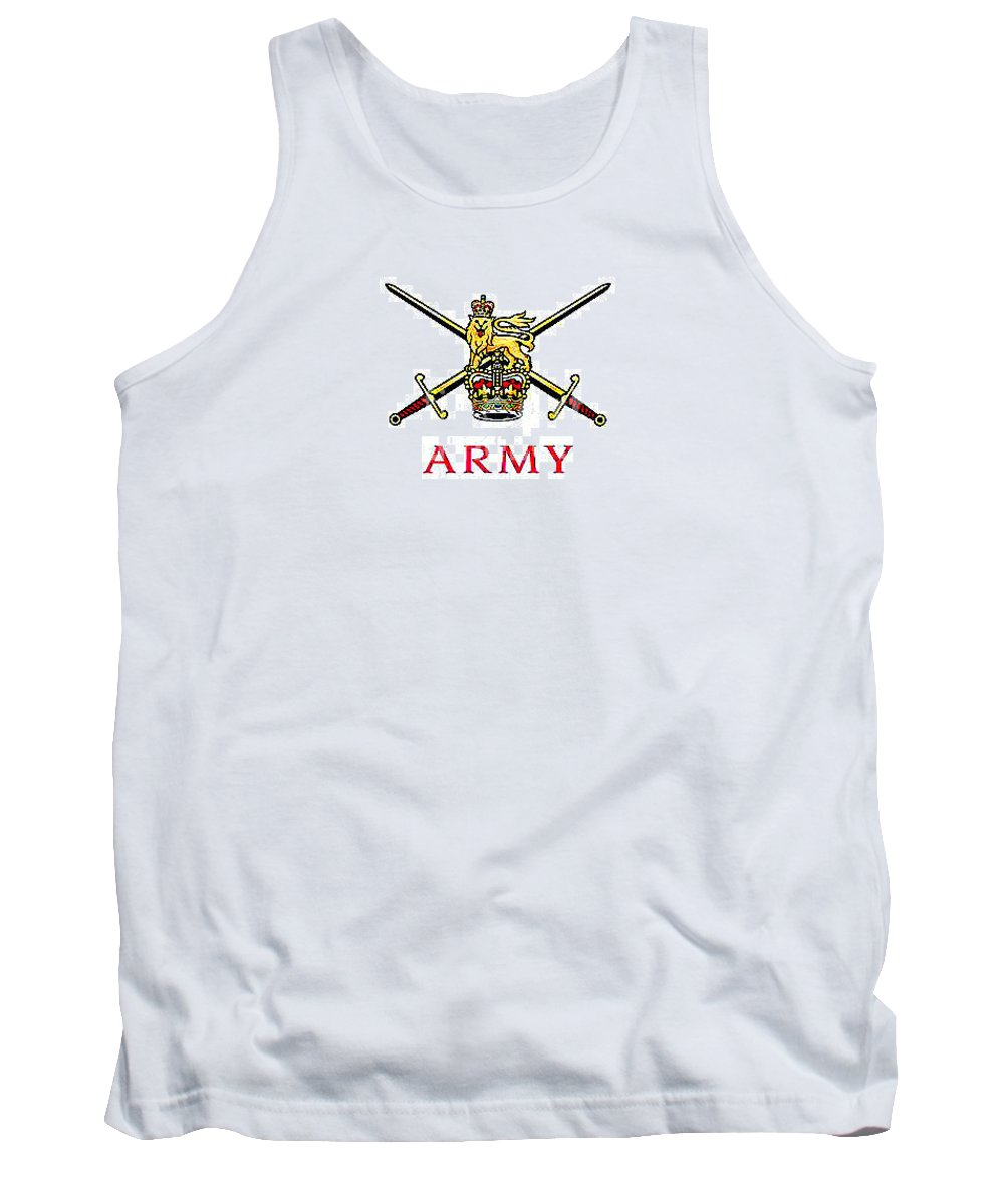 Army_british Tank Top featuring the digital art The British Army by Richard John Holden RA