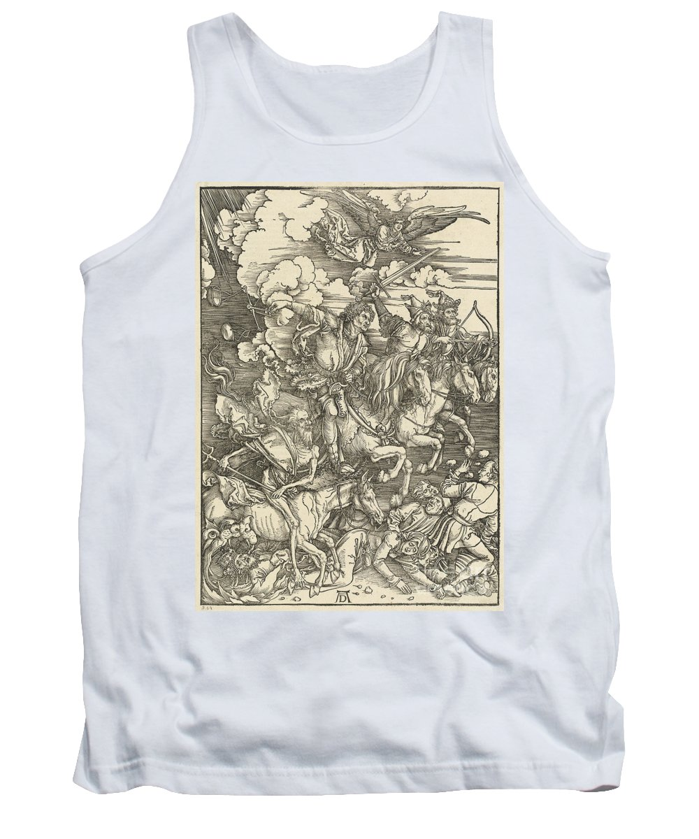 Tank Top featuring the drawing The Four Horsemen by Albrecht D?rer