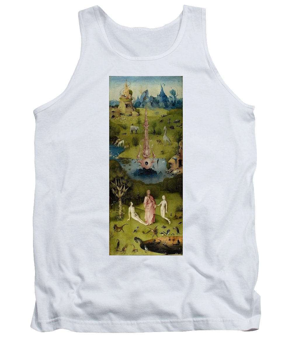 Aquarium Tank Top featuring the digital art The Garden Of Earthly Delights Left Wing - Paradise Hieronymus Bosch by Eloisa Mannion