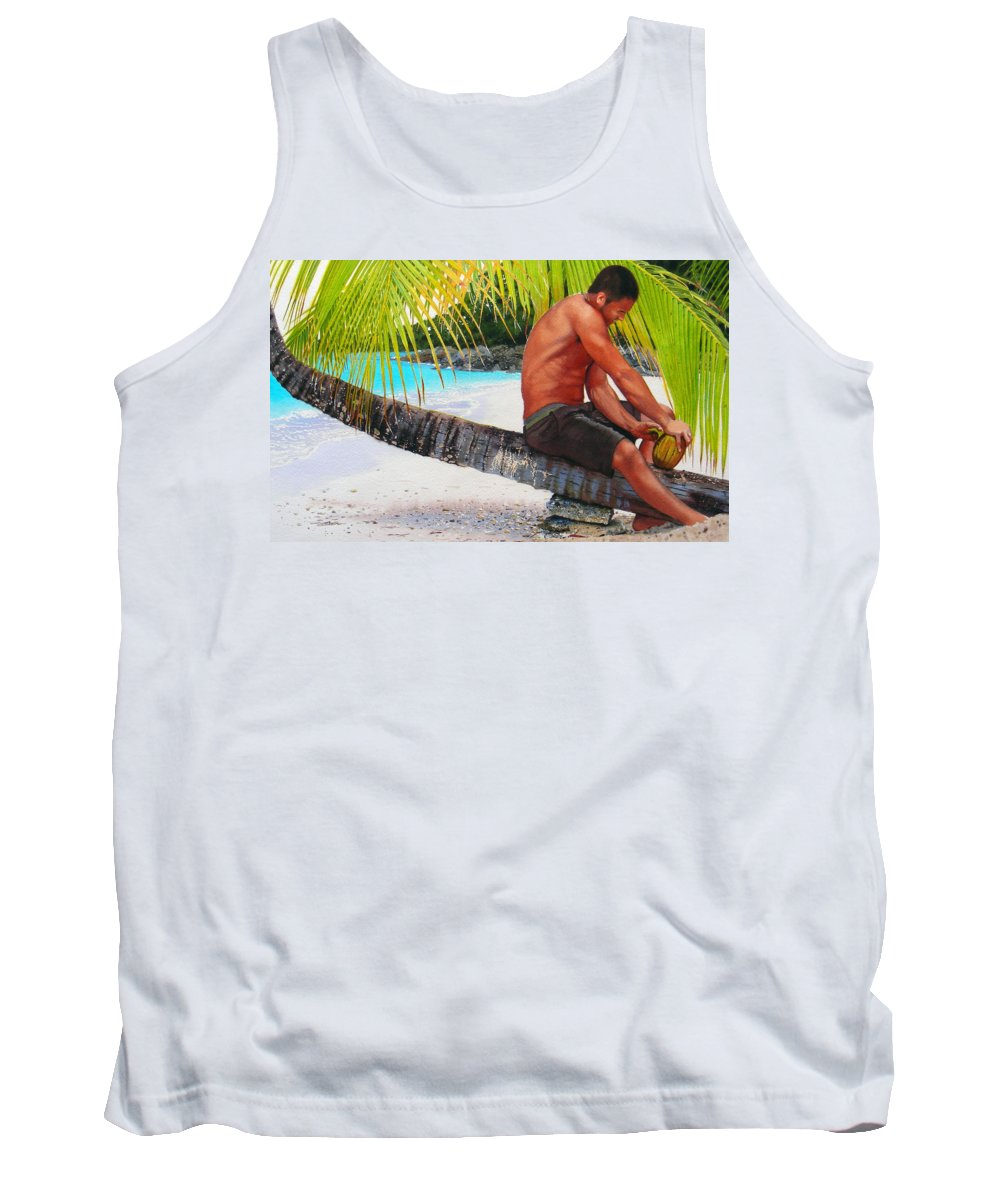 Male Figure Tank Top featuring the painting The Gatherer by Denny Bond