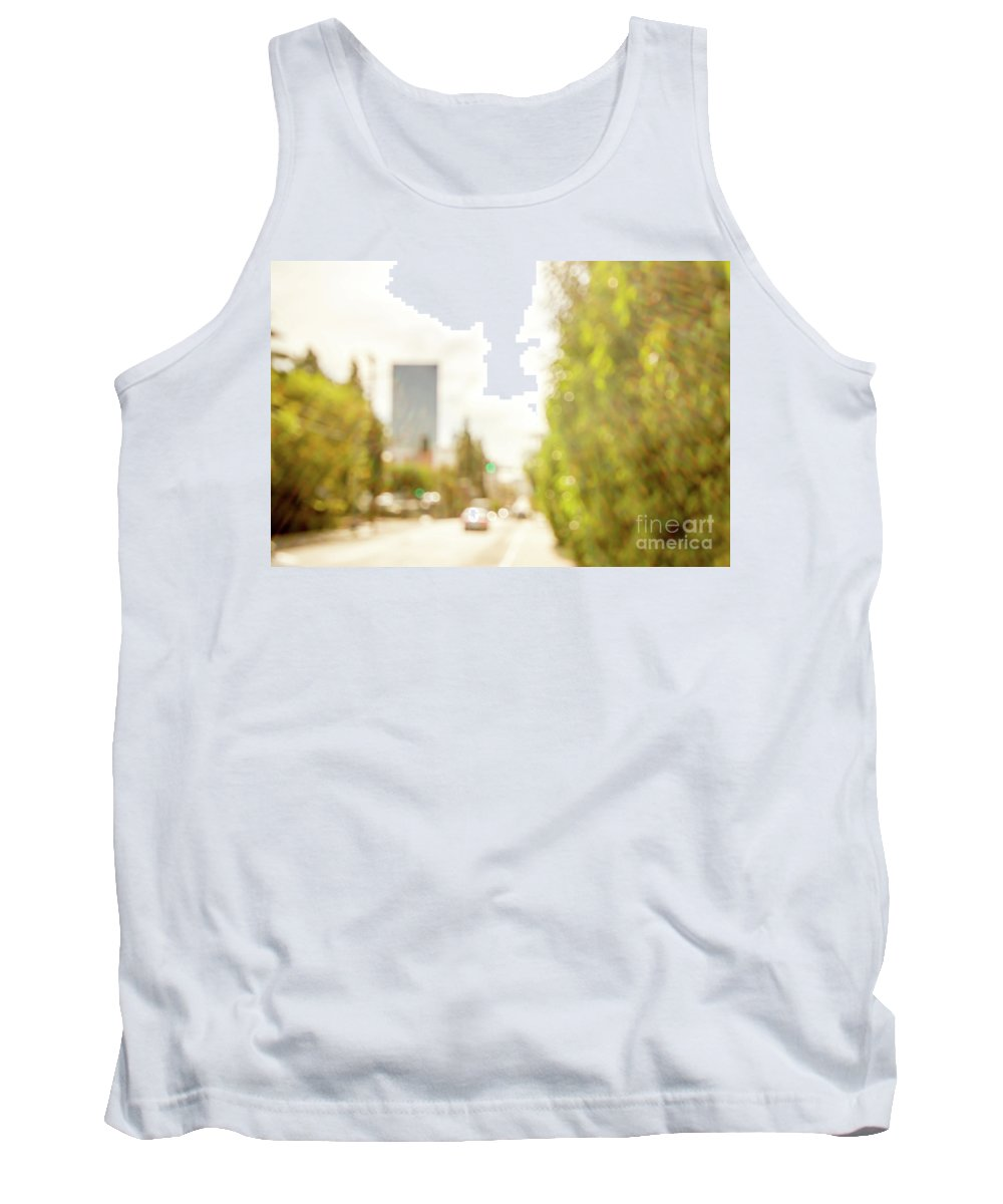 America Tank Top featuring the photograph The Hedge By The Sidewalk During Day In The City Of Los Angeles by Eiko Tsuchiya