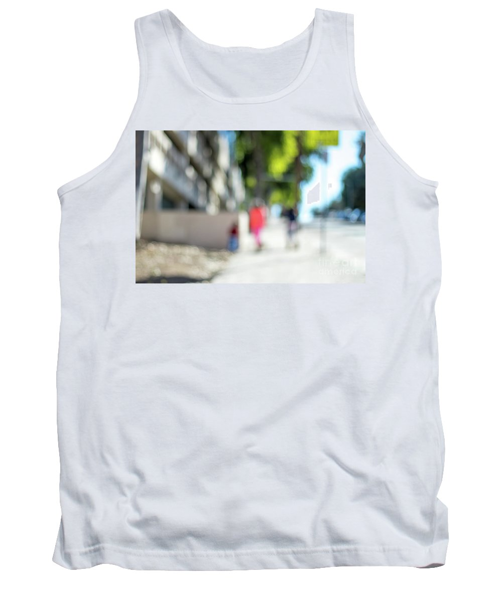 America Tank Top featuring the photograph The People Walking On The Street During Day In The City Of Los A by Eiko Tsuchiya