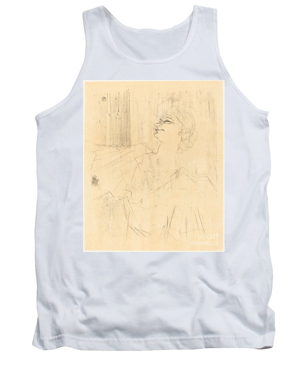 Tank Top featuring the drawing To Menilmontant From Bruant (a M?nilmontant, De Bruant) by Henri De Toulouse-lautrec