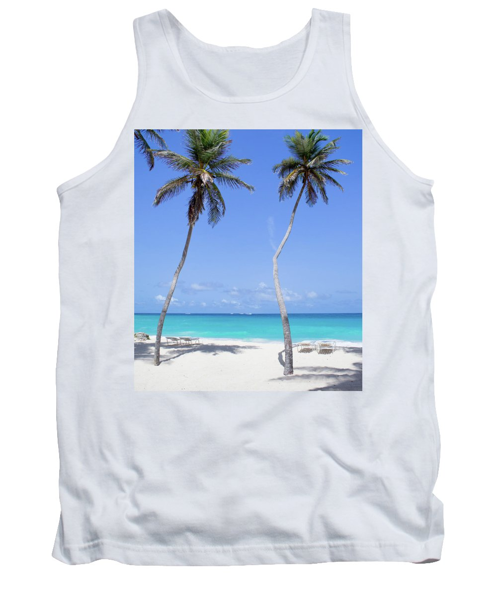 Barbados Tank Top featuring the photograph Two Palms by Ferry Zievinger