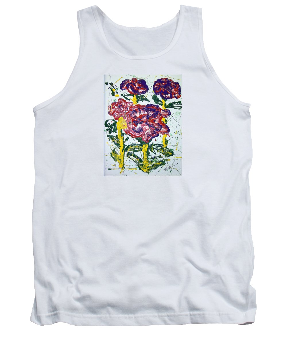 Abstract Painting Tank Top featuring the painting Untitled by J R Seymour