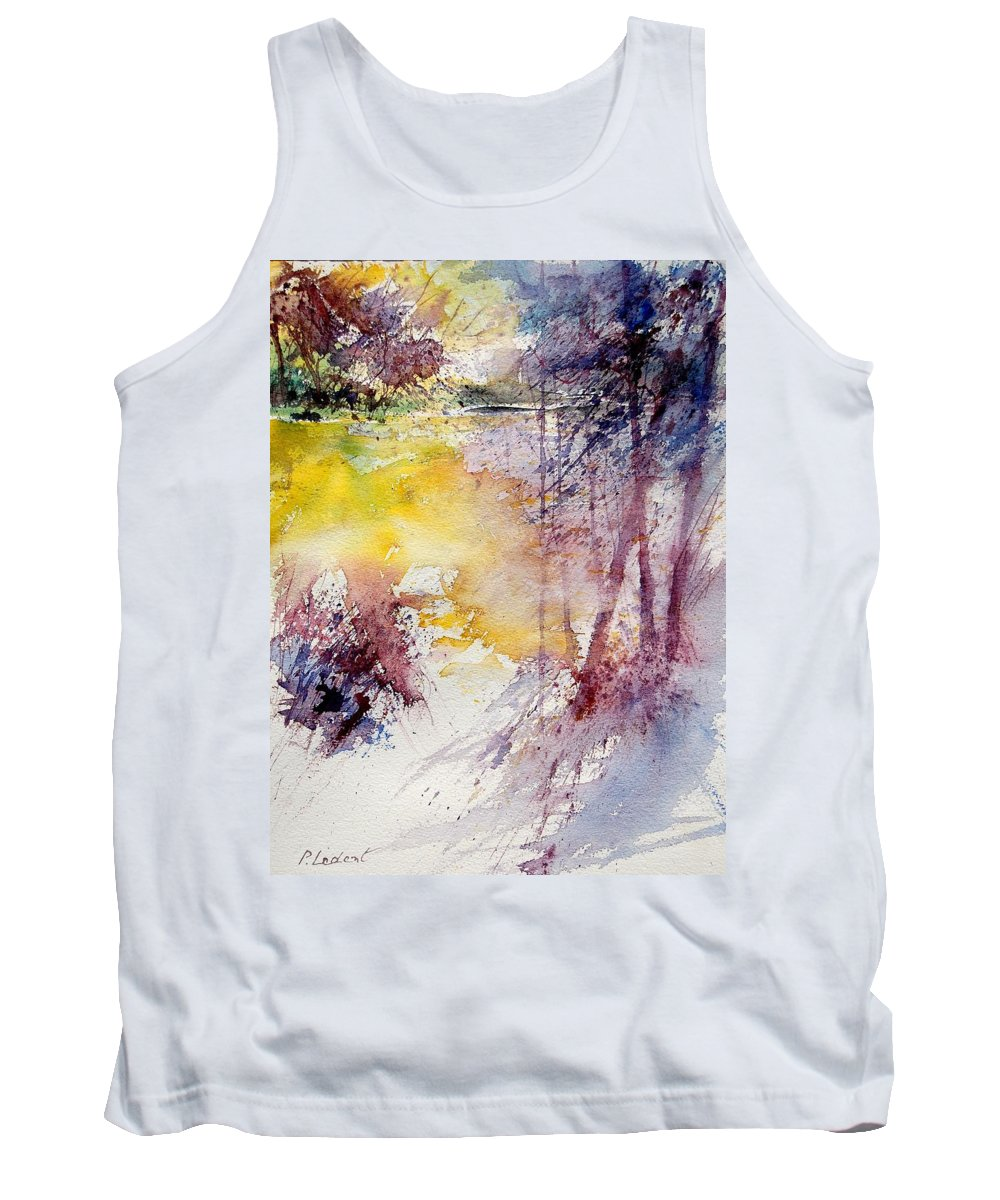 River Tank Top featuring the painting Watercolor 040908 by Pol Ledent