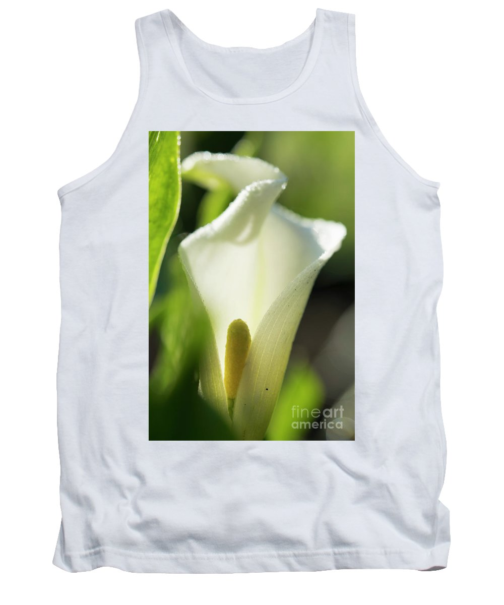 White Flower Tank Top featuring the photograph White Flower by Michelle Himes