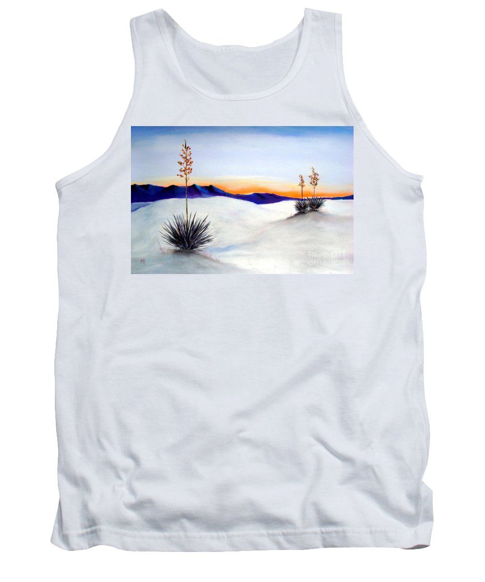 White Sands Tank Top featuring the painting White Sands by Melinda Etzold
