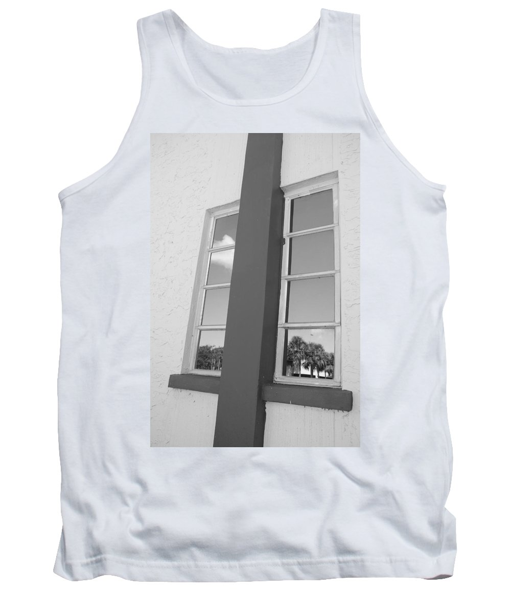 Black And White Tank Top featuring the photograph Window T Glass by Rob Hans