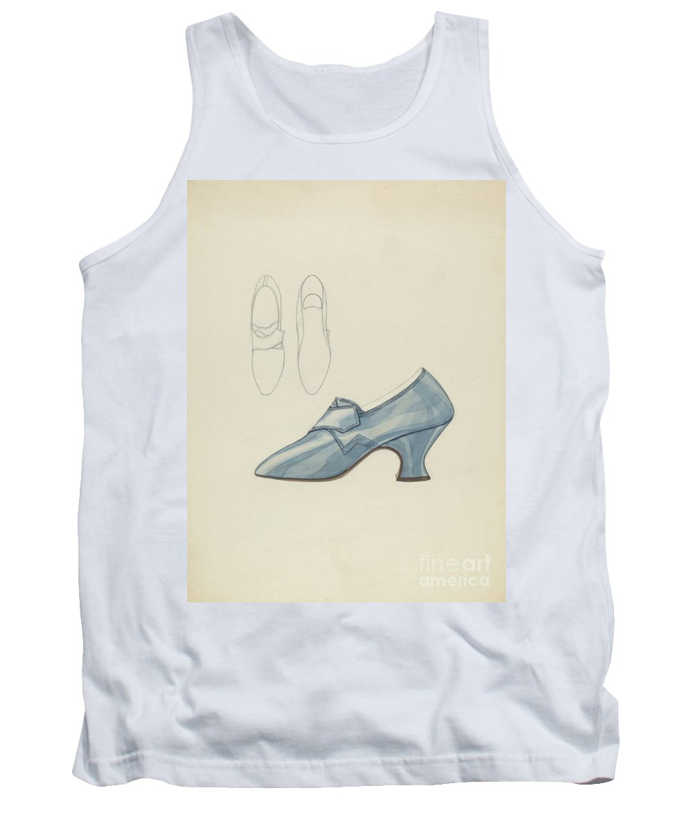 Tank Top featuring the drawing Woman's Shoe by Melita Hofmann
