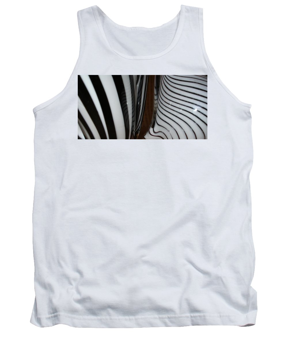 Blac Tank Top featuring the photograph Zebra Glass by Maria Bonnier-Perez