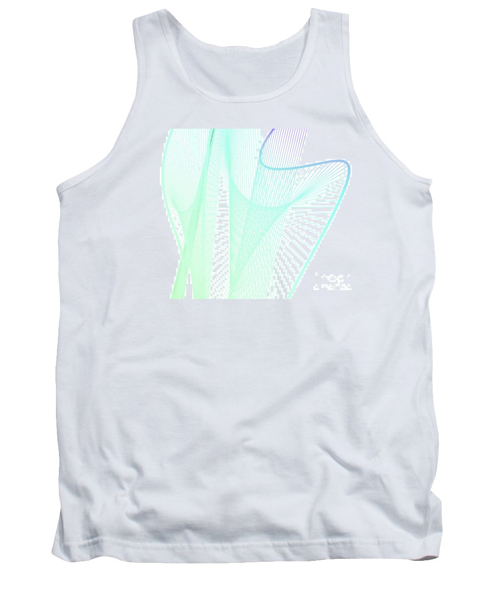 Abstract Tank Top featuring the digital art Dynamic And Bright Linear Spiral With Colorful Gradient by Eiko Tsuchiya