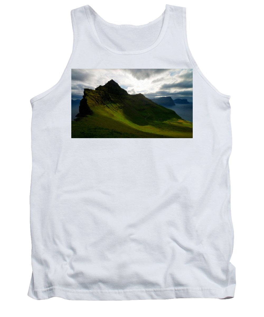 Romantic Tank Top featuring the digital art C Landscape by Usa Map