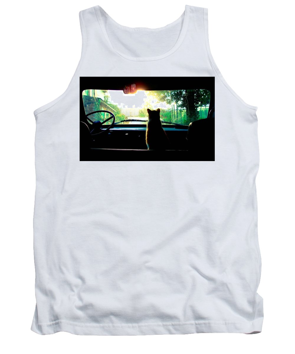 Cat Tank Top featuring the photograph Cat by Jackie Russo