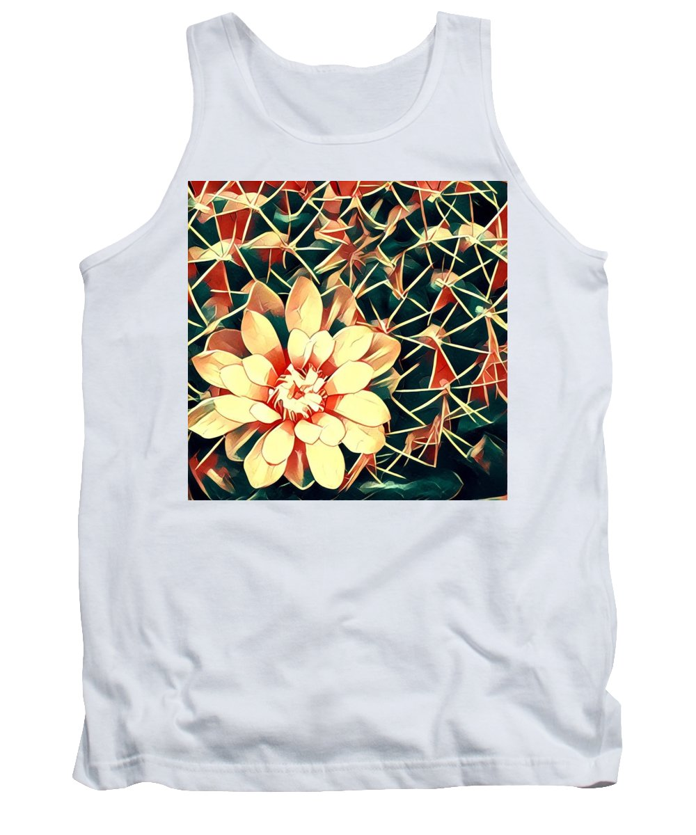 Tank Top featuring the digital art Cacti by Melinda Sullivan Image and Design
