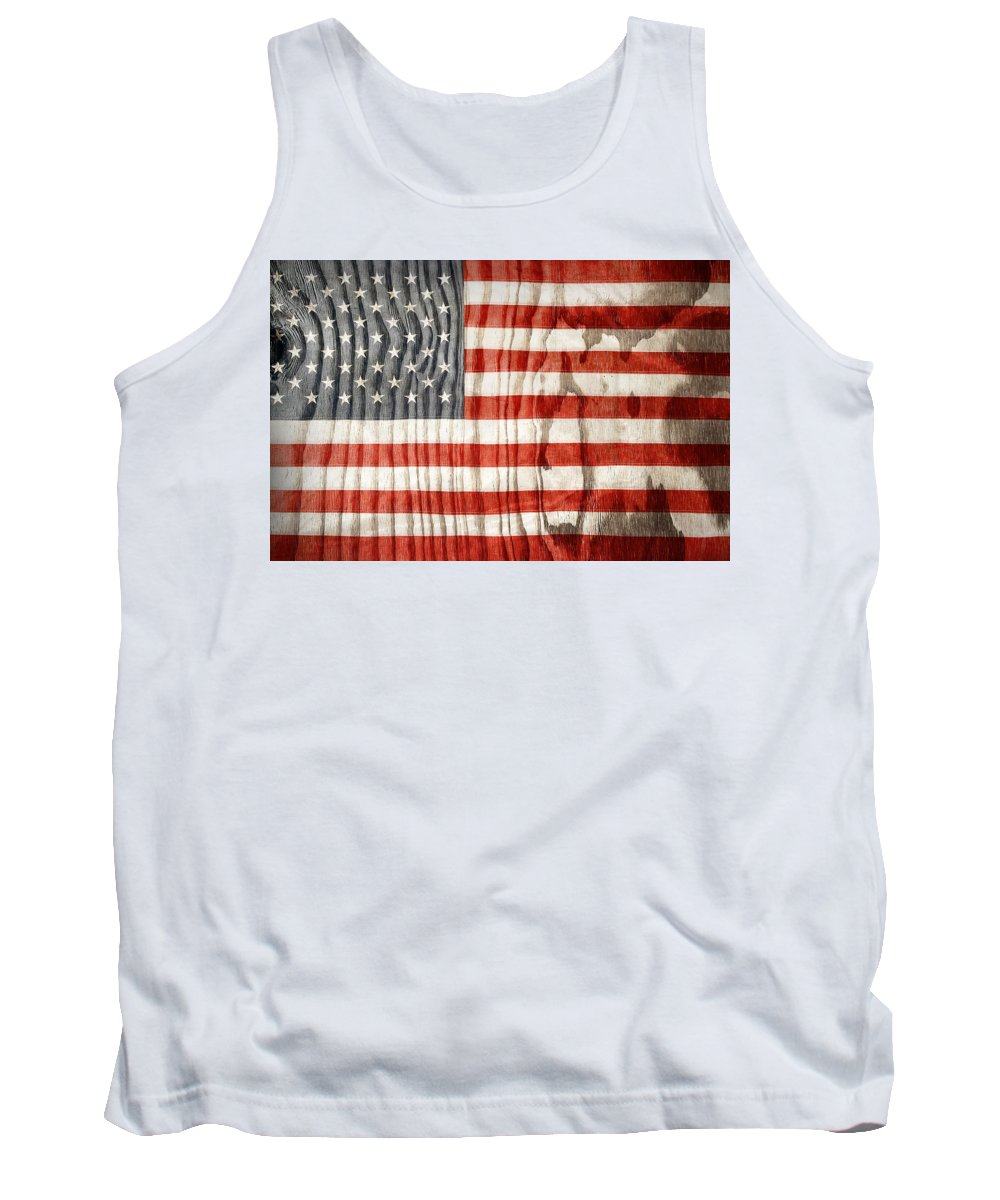 American Flag Tank Top featuring the photograph American Flag by Les Cunliffe