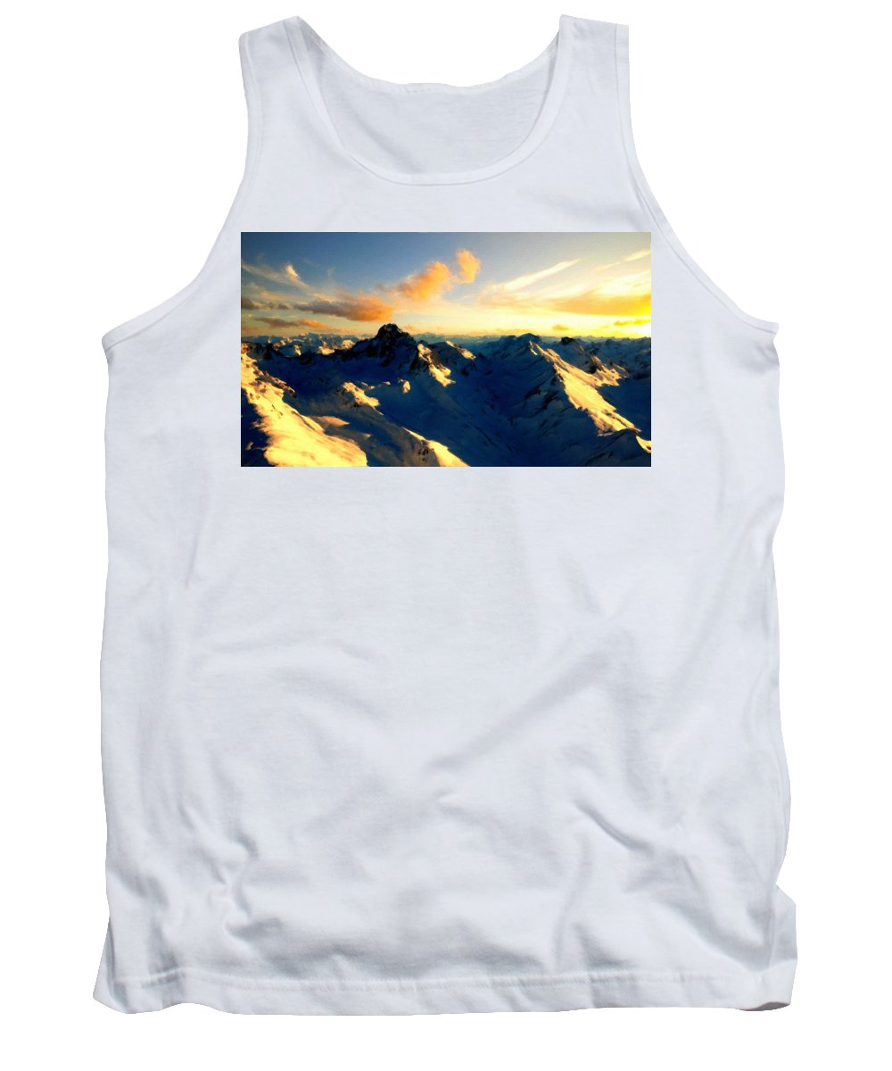 Landscape Tank Top featuring the digital art S Landscape by Usa Map