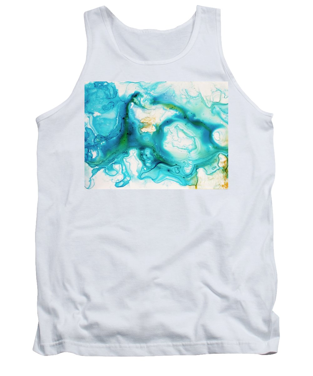 Abstract Tank Top featuring the painting Untitled by Angelina Cornidez