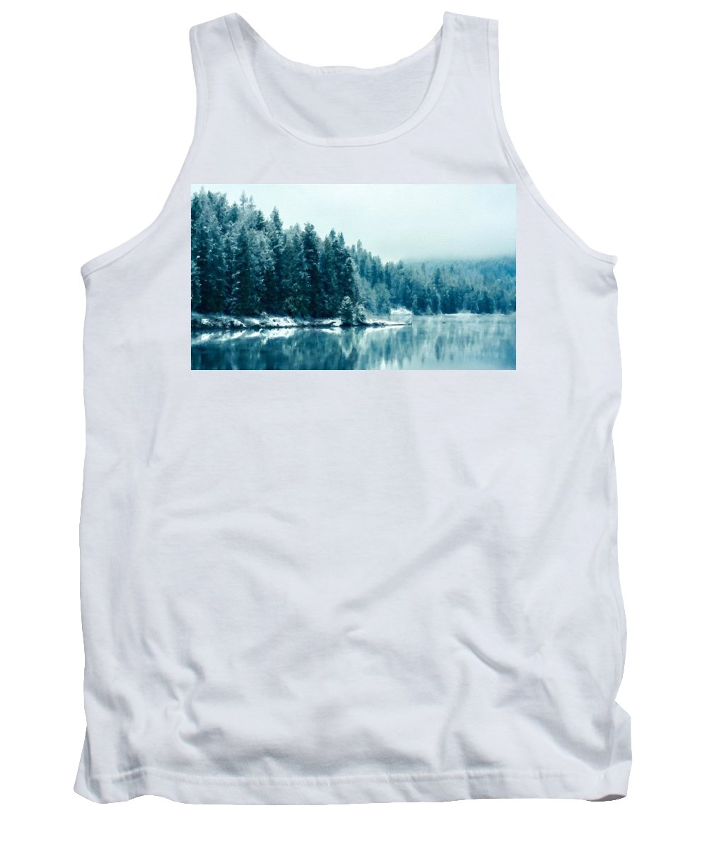 Nc Tank Top featuring the digital art Landscape Modern by Usa Map