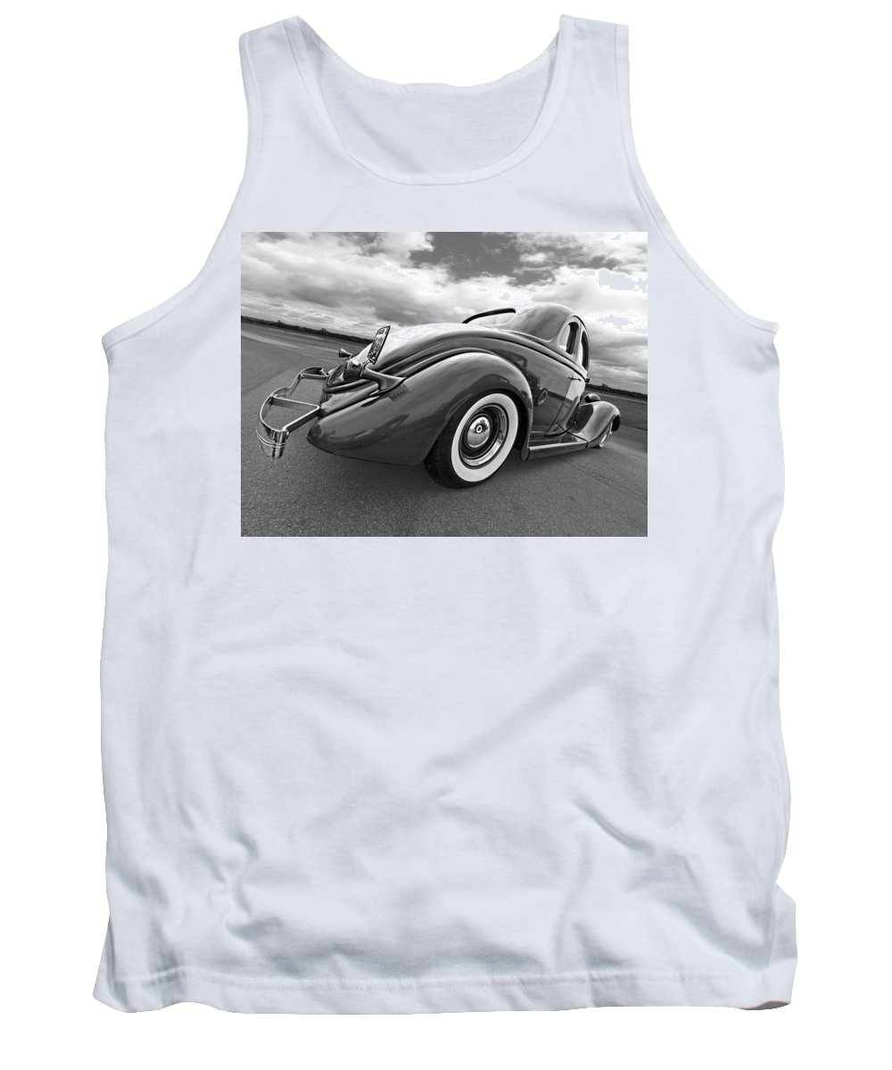 Hotrod Tank Top featuring the photograph 1935 Ford Coupe In Black And White by Gill Billington