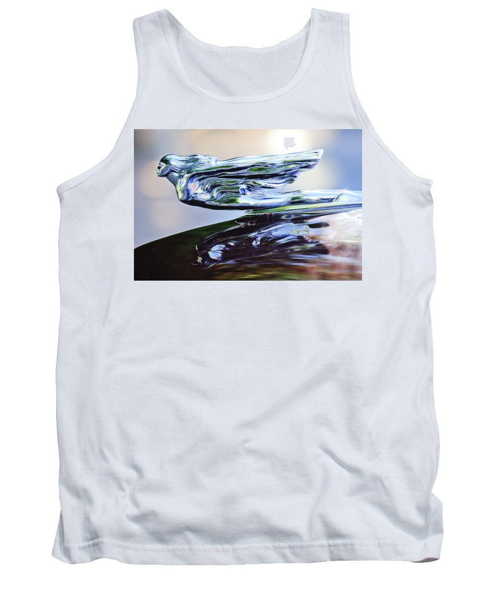 1941 Cadillac Tank Top featuring the photograph 1941 Cadillac Hood Ornament 2 by Jill Reger