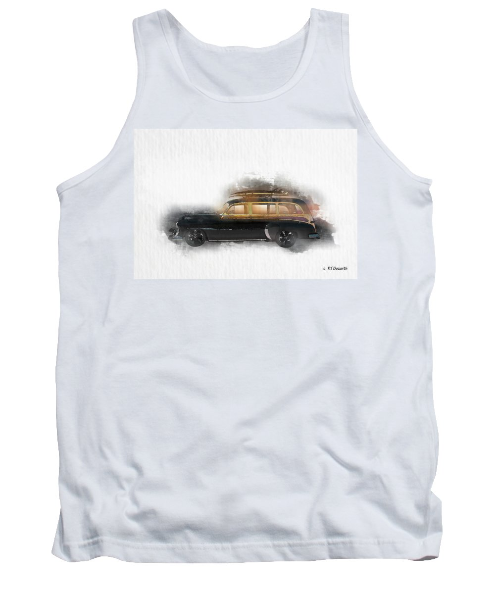 1949 Tank Top featuring the digital art 1949 Chevy Woody by RT Bozarth