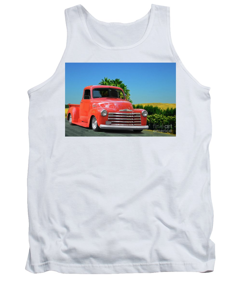 Automobile Tank Top featuring the photograph 1952 Chevrolet 3100 Pickup I by Dave Koontz