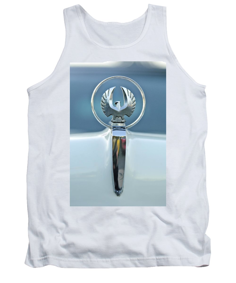 1962 Chrysler Imperial Tank Top featuring the photograph 1962 Chrysler Imperial Hood Ornament by Jill Reger