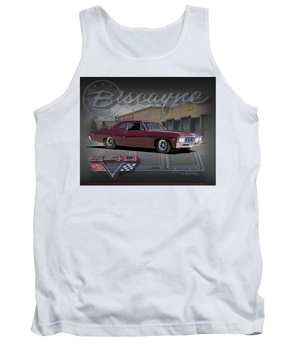 Chevrolet Chevy Biscayne Car Auto Automobile '67 1967 Tank Top featuring the photograph 1967 Biscayne by David Horst
