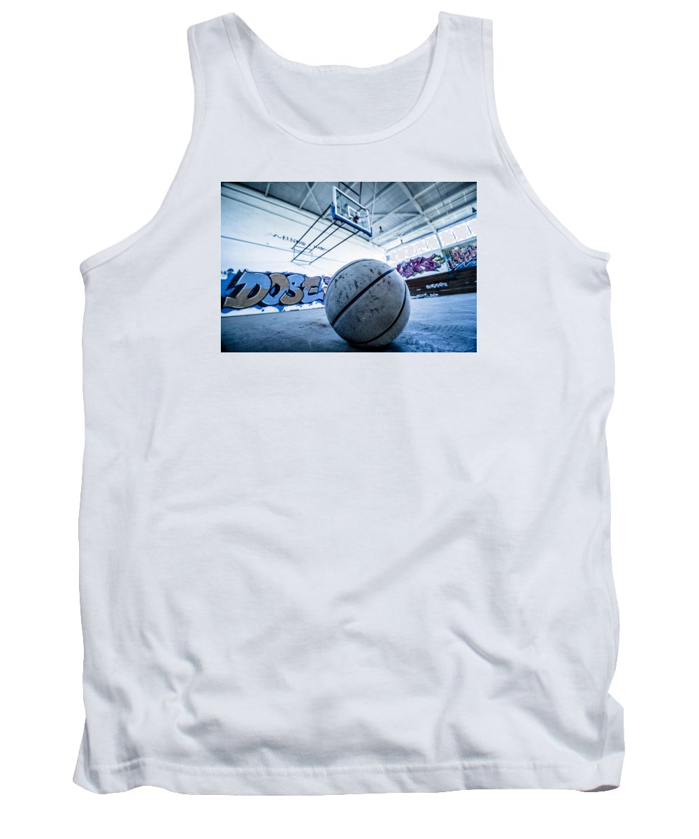 Basketball Tank Top featuring the photograph Ball Is Life by Mike Dunn