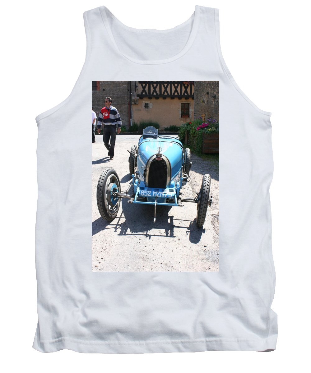 Oldtimer Tank Top featuring the photograph Blue Oldtimer by Christiane Schulze Art And Photography