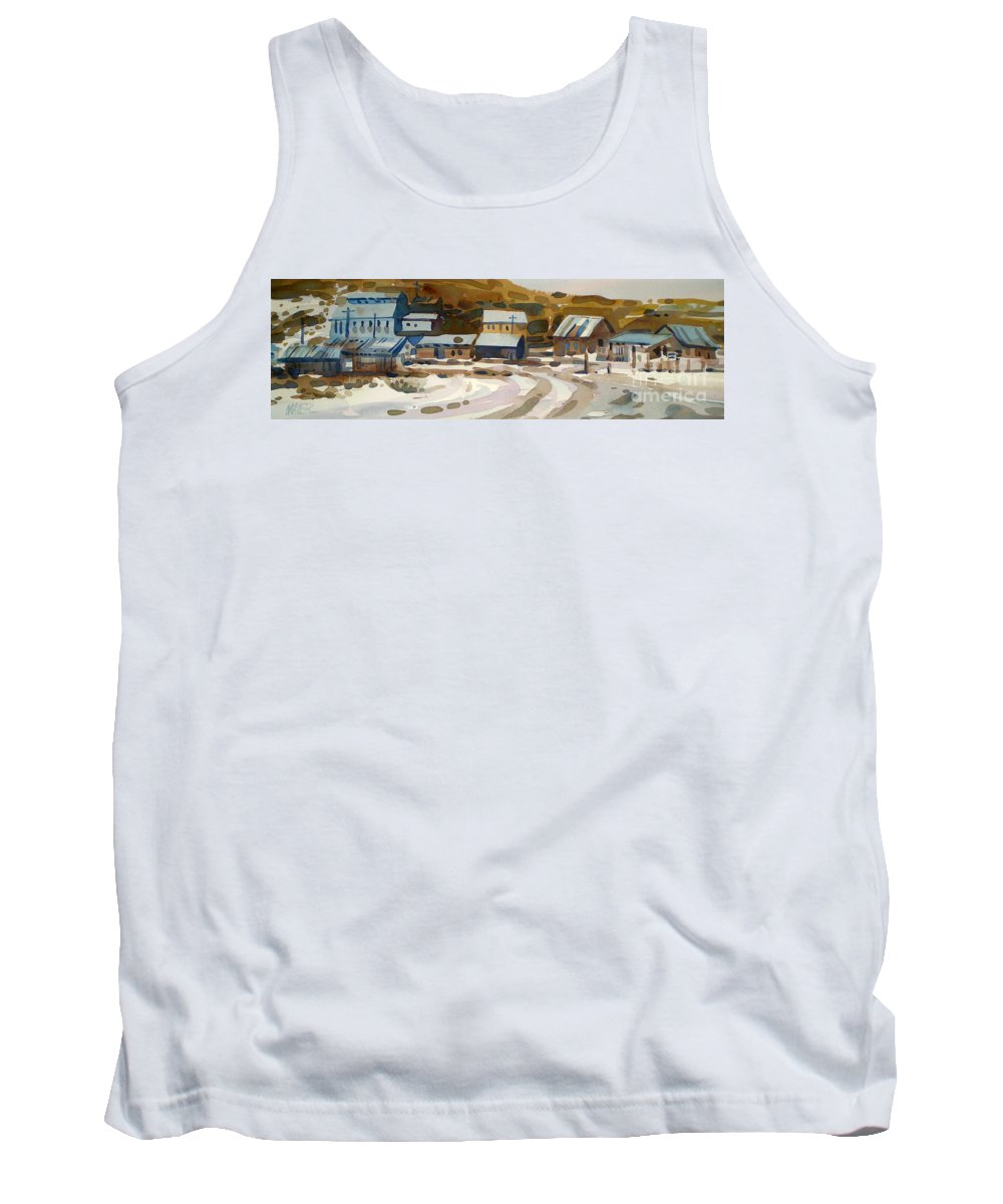 Ghost Town Tank Top featuring the painting Bodie California 1979 by Donald Maier