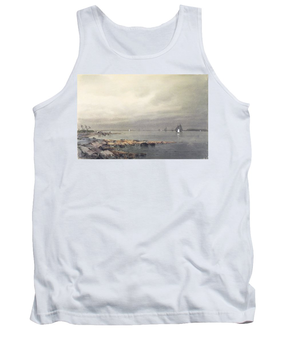 William Trost Richards (american Tank Top featuring the painting Calm Before A Storm by William Trost