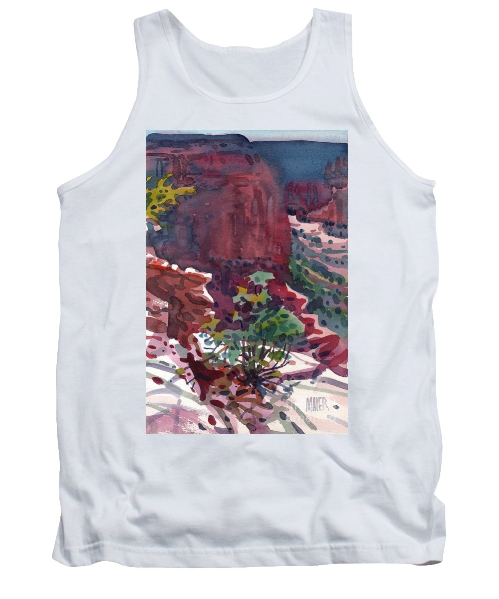 Canyon De Chelly Tank Top featuring the painting Canyon View by Donald Maier