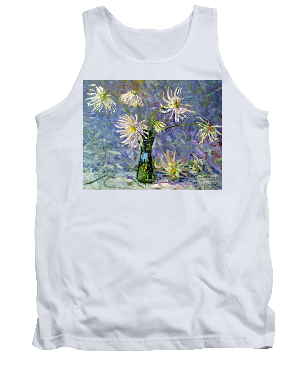 Dahlias Tank Top featuring the painting Dahlias by Donald Maier