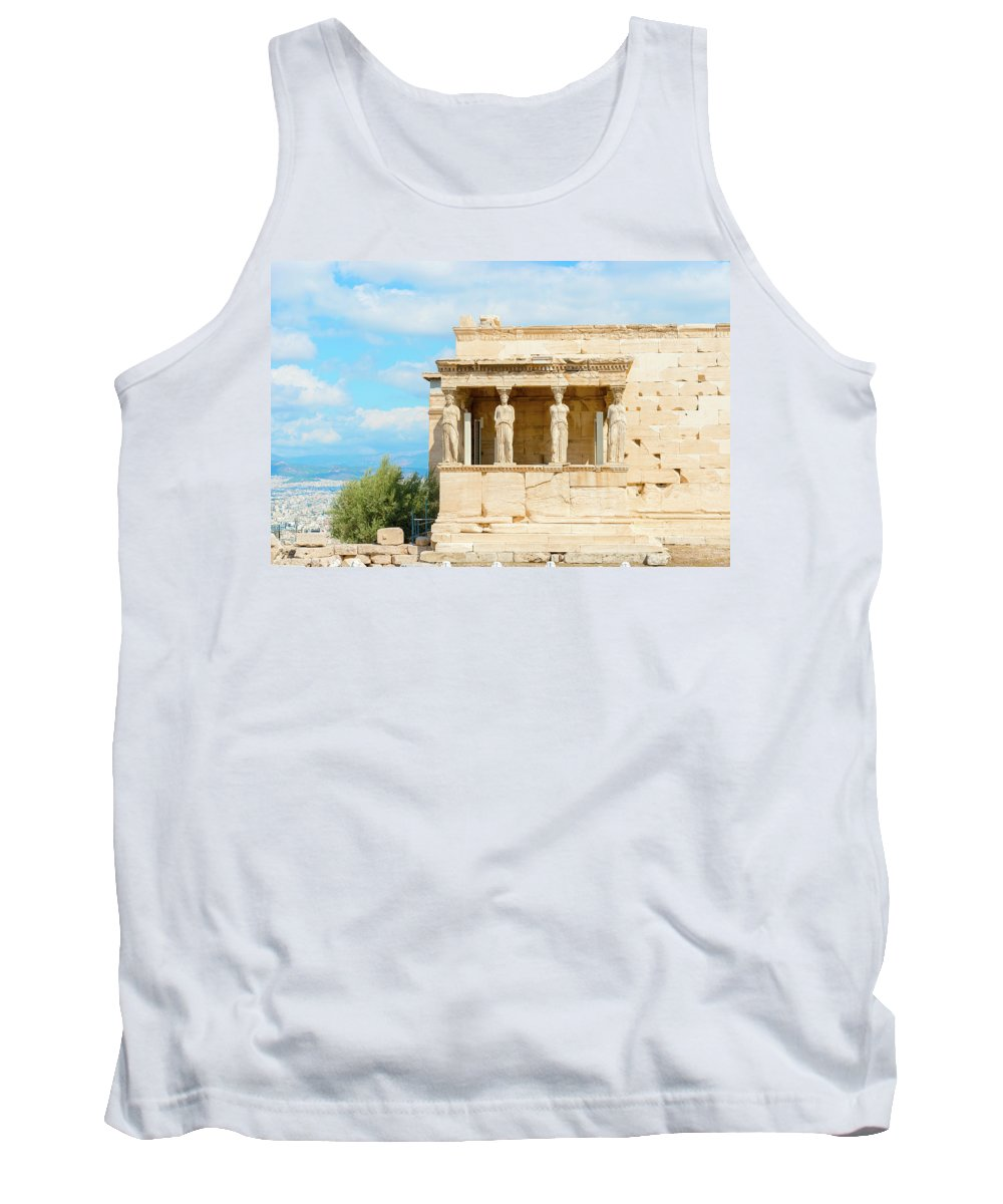 Old Tank Top featuring the photograph Erechtheion Temple On Acropolis Hill, Athens Greece. by Marek Poplawski