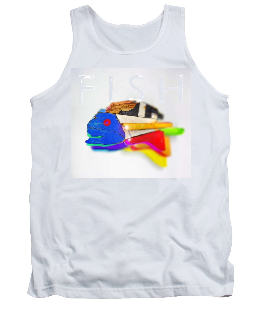 Fish Tank Top featuring the digital art Fish by Charles Stuart