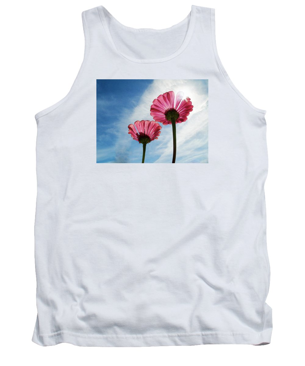 Nature Tank Top featuring the pyrography Flowers by Artistic Panda
