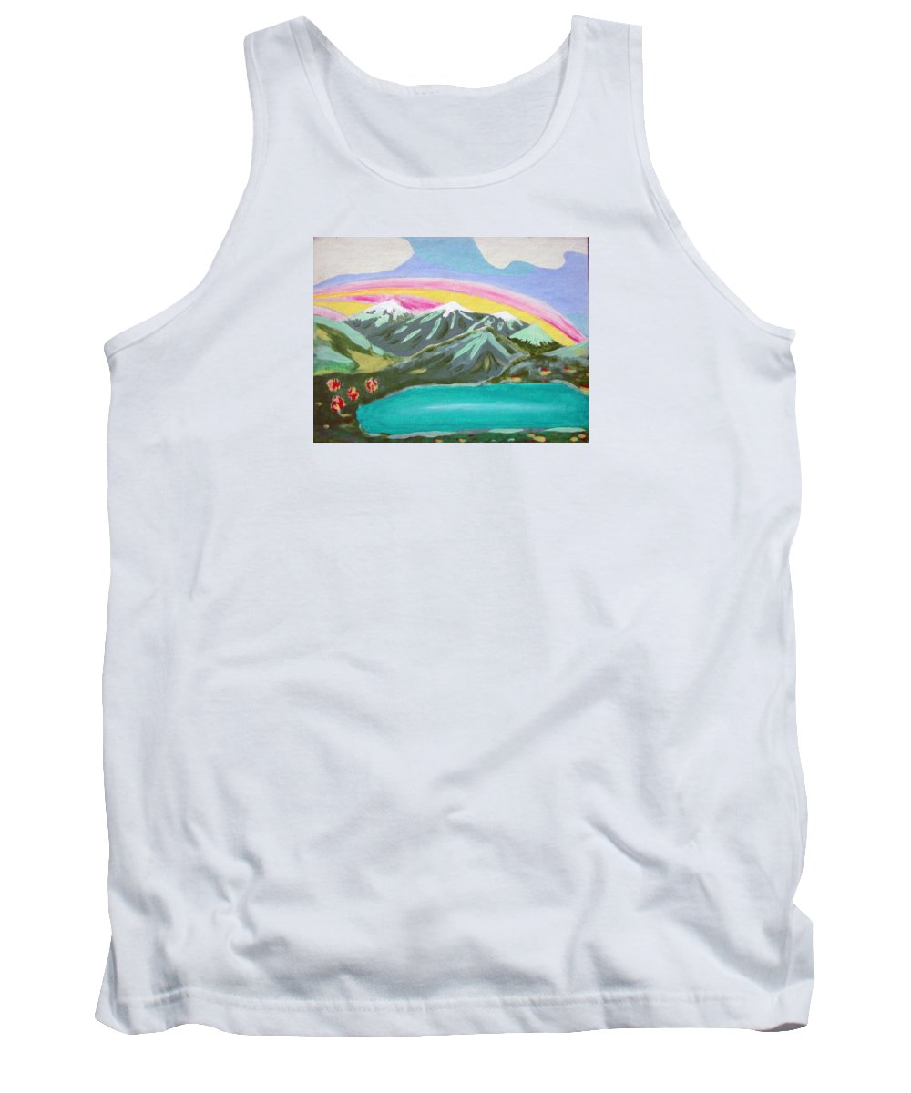 Impressionist Painting Tank Top featuring the painting From The Mountains To The Sea by J R Seymour