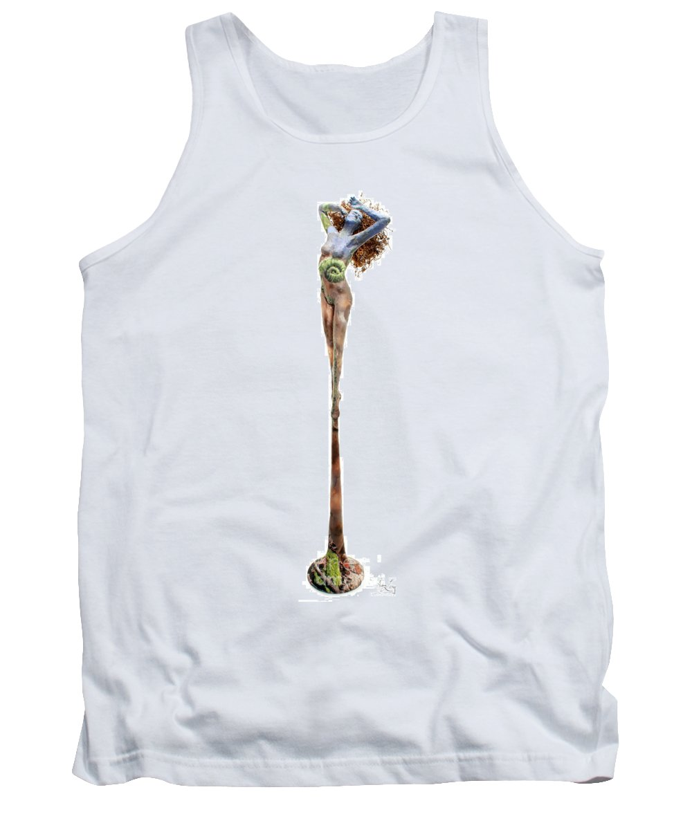 Art Tank Top featuring the mixed media Frondescence by Adam Long