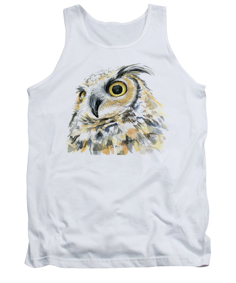 Great Horned Owl Tank Tops